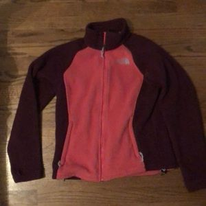 North Face soft jacket pink/maroon